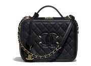 Chanel Grained calfskin & gold-tone metal