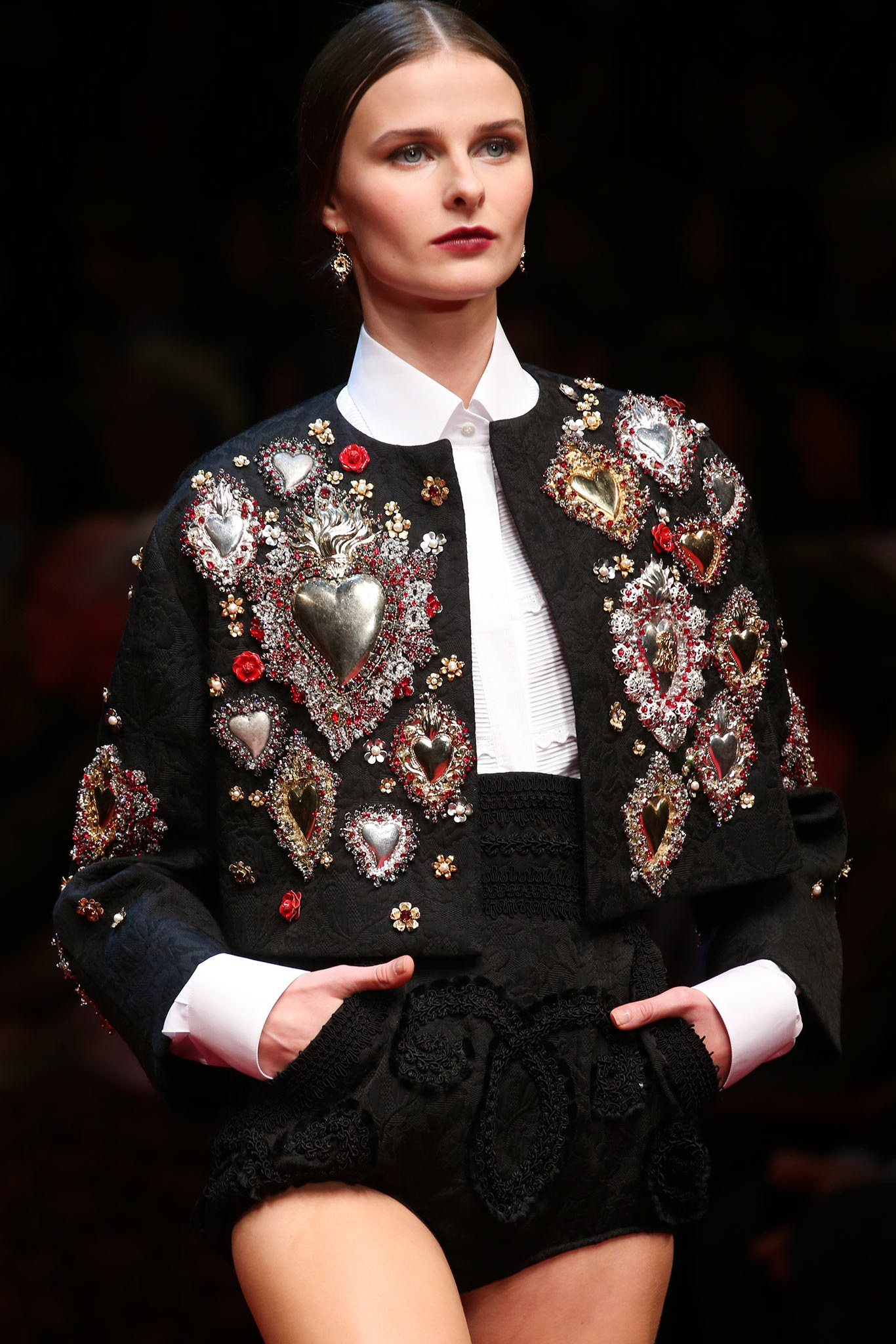 Saint Valentine's Day, fashion collection, Valentine's Day outfit ideas, street style, trends 2019, Luella Spring 2010 collection, Dolce & Gabbana's Spring 2015, Saint Laurent Fall 2016, Maison Margiela Couture Fall 2014, heart print dress, Valentine's Day dress, Versace Pre-Fall 2019