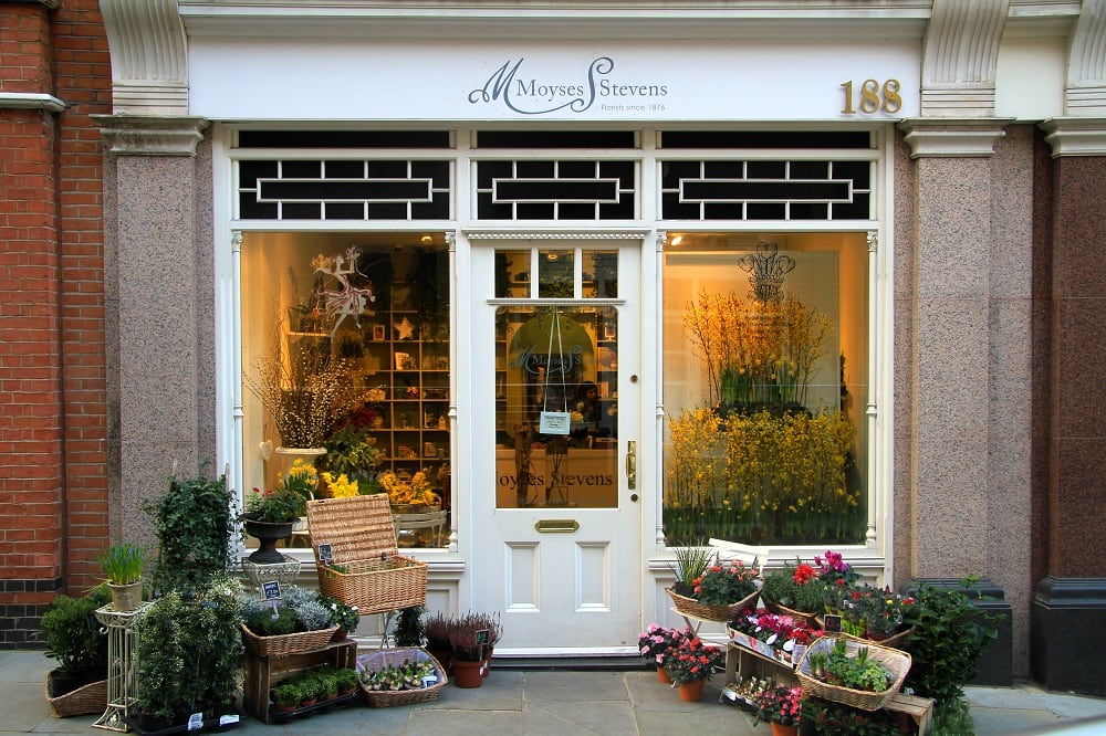 Moyses Stevens florist's Instagram interesting places in London to see
